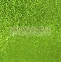 Juh nappa bőr - metallic lime - 10x10cm