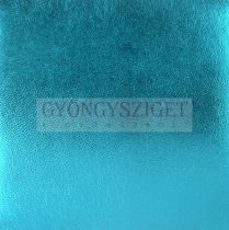 Juh nappa bőr - metallic aqua - 10x10cm