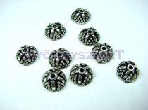Gyöngykupak - gyöngymintás - ezüst színű - 11x5mm