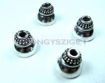 Gyöngykupak - sormintás - ezüst színű - 10x12mm
