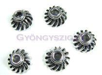 Gyöngykupak - rojtmintás - ezüst színű - 11x7mm
