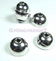 Gyöngykupak - ezüst színű - 14x8mm