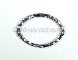Köztes elem - kalapált - ezüst színű - 17x24mm
