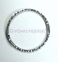 Köztes elem - kalapált - ezüst színű - 33mm