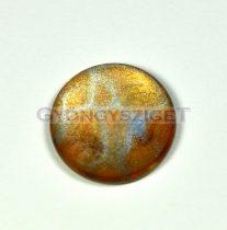 Kaboson - erezetes csillám arany - 20mm