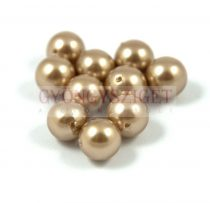 Kagyló gyöngy - bronze - 8mm