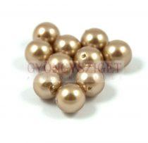 Kagyló gyöngy - bronze - 10mm