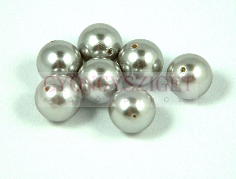 Kagyló gyöngy - ezüst - 8mm Kagyló gyöngy 7a832f2fe1