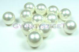 Kagyló gyöngy- feher - 14mm