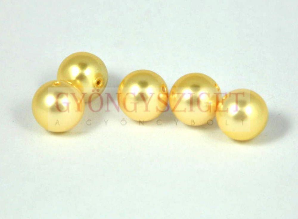 Kagyló gyöngy - light gold - 8mm Kagyló gyöngy 68c93868d7