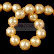 Kagyló gyöngy - Etched Gold - 10mm