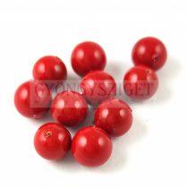 Kagyló gyöngy - piros - 8mm