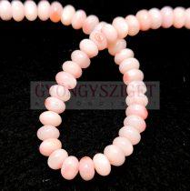 Kagyló gyöngy - rondelle - Pink - 6x4mm - szálon (kb. 90 db/szál)