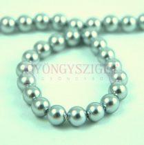Kagyló gyöngy - Silver - 6mm - szálon