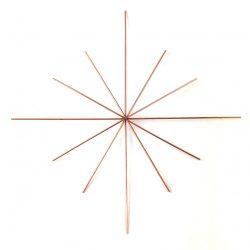 Karácsonyi drót csillag - 12 ágú - 0.8mm drót vastagság - 11cm