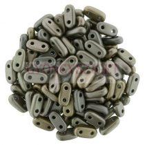 Cseh kétlyukú hasáb - 2 hole bar gyöngy - Matte Metallic Bronze Iris -6mm