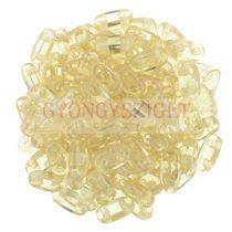 CzechMates 2 Hole Bar Czech Glass Bead - crystal champagne luster - 6mm