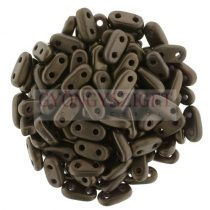 Cseh kétlyukú hasáb - 2 hole bar gyöngy - Matte Dark Bronze - 6mm