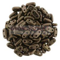 Cseh kétlyukú hasáb - 2 hole bar gyöngy - Dark Bronze - 6mm