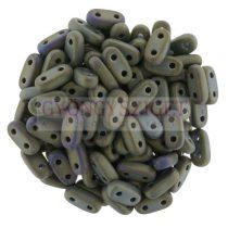 Cseh kétlyukú hasáb - 2 hole bar gyöngy - Matte Iris Brown -6mm