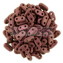 Cseh kétlyukú hasáb - 2 hole bar gyöngy - Metallic Sueded Pink -6mm