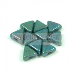Kheops® par Puca®gyöngy - turquoise green nebula - 6mm