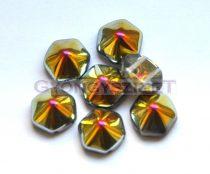 Cseh kétlyukú hatszögletű piramis - crystal marea - 12mm