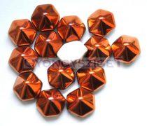 Cseh kétlyukú hatszögletű piramis - sunset  alabaster- 12mm