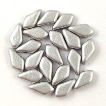 Kite - cseh préselt kétlyukú gyöngy - Aluminium Matt - 9x5mm