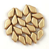 Kite - cseh préselt kétlyukú gyöngy - Aztec Gold - 9x5mm