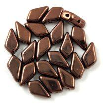 Kite - cseh préselt kétlyukú gyöngy - Dark Bronze - 9x5mm