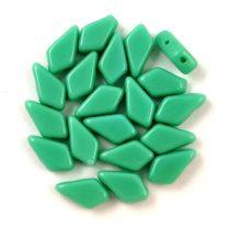 Kite - cseh préselt kétlyukú gyöngy – Opaque Turquoise Green - 9x5mm