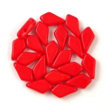 Kite - cseh préselt kétlyukú gyöngy - Dark Red – 9x5mm