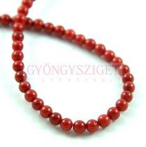 Piros korall gyöngy - 3mm - szálon