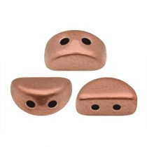 Kos® par Puca®gyöngy - Matte Copper -3x6mm