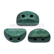 Kos® par Puca®gyöngy - Metallic Mat Green Turquoise - 3x6mm