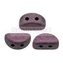 Kos® par Puca®gyöngy - Metallic Mat Dark Violet - 3x6mm