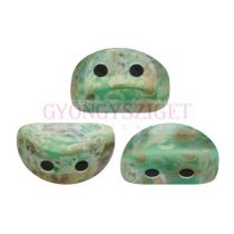Kos® par Puca®gyöngy - Opaque Green Turquoise Picasso - 3x6mm