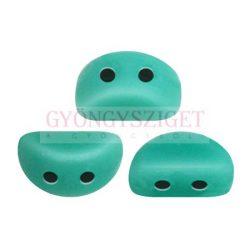 Kos® par Puca®gyöngy - Opaque Green Turquoise - 3x6mm