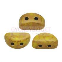 Kos® par Puca®gyöngy - Opaque Jonquil Bronze - 3x6mm