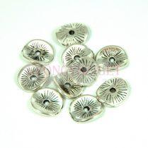 Köztes elem -  Rays - antik ezüst színű  - 8x10mm