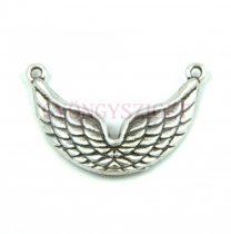 Köztes elem - wings - antik ezüst színű - 33mm
