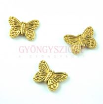 Köztes elem - pillangó - arany színű - 10x14mm