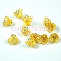 Gyöngykupak - arany színű korona - 8x10mm
