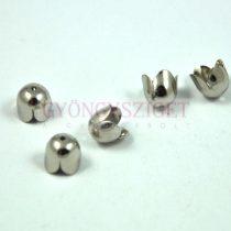 Gyöngykupak - ezüst színű tulipán - 8mm