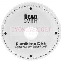 kumihimo disc - 15 cm - 20mm vastag - 35mm-es lyukkal