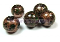 Lampbead - gold oliva round bead-cca10mm