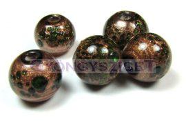 Lámpagyöngy - arany oliva golyó-cca10mm