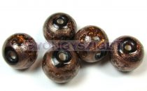 Lampbead - gold topaz round bead-cca10mm