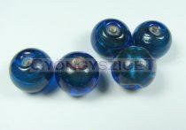 Lámpagyöngy - capri kék golyó-cca12mm